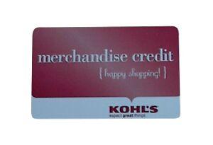 $25 Kohl's Gift Card