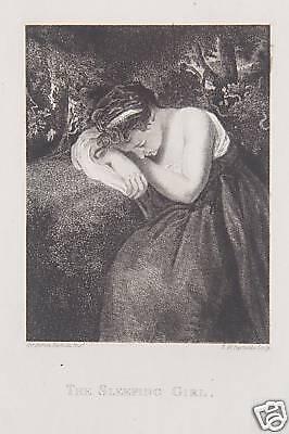 Joshua Reynolds sleeping girl Erotik Schlaf Arkadien Mädchen Nude Traum Dream
