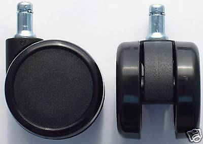 Laminate Floor Rubber Casters For Office Chair 2.5 Dia Cs-65