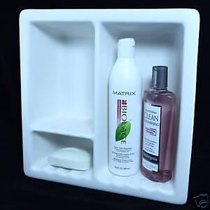 Shampoo Soap Shower Recessed Niche Ceramic Shelf Matte White 3 Ebay