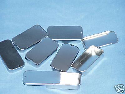 12 medium 1/2 oz slide top tin box lip balm salve perfume candy #302