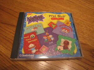 Rugrats-Print-shop-Broderbund-PC-Nickelodeon-CD-ROM