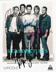 MAROON-5-BAND-SIGNED-AUTOGRAPHED-RP-PHOTO-ADAM-LEVINE