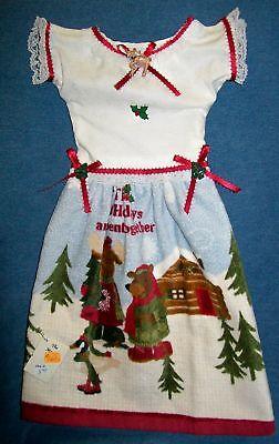 Winter Woods Kitchen Oven Door Dress Holiday Hand Towel 161