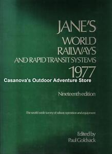JANES-WORLD-RAILWAYS-RAPID-TRANSIT-SYSTEMS-1977-NEW-94-99-Offer