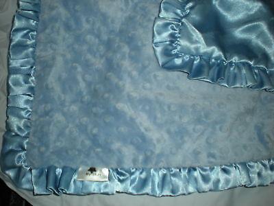 My Stuff Minky Dot Blue Lovey Security Blanket Satin