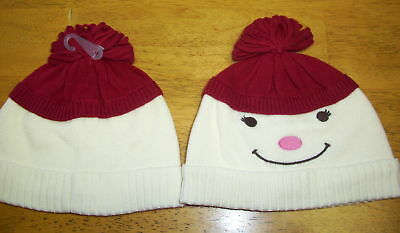 Gymboree Smiling Snowman Alpine Sweater Hat 2t 3t