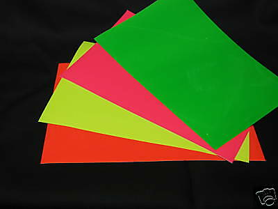 Any Color Gloss Or Neon Sign Vinyl 3 Sheets 12 X12 Inch Of Solid Colored Glossy