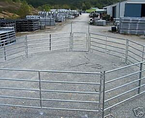 HORSE-FENCE-ROUND-PEN-ARENA-CORRAL-PANEL-and-FARM-GATES