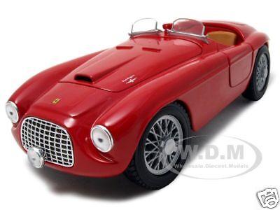 Ferrari 166 Mm Red 1:18 Diecast Model Car By Hotwheels B6054