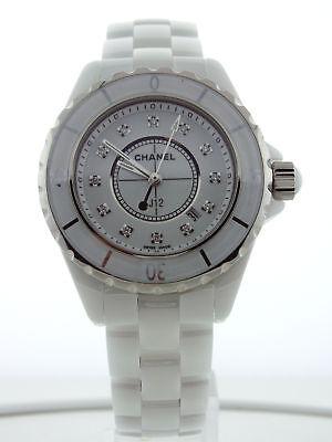 Chanel J12 White Ceramic 33mm Quartz Diamind Dial H1628
