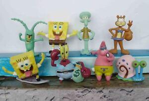 LOT-OF-8-pcs-SpongeBob-Squarepants-figure-2-SET-LOOSE-U56