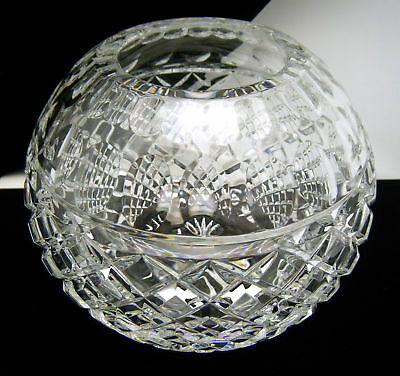 """Vintage Clear Crystal Rose Bowl Poland Imperlux 5 1/2"""" on Lookza"""