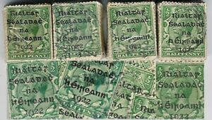 IRELAND-1922-PROVISIONAL-OVERPRINT-1-2d-KG5-500-stamps