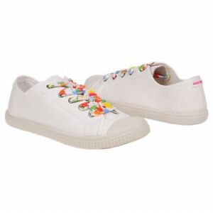 Rocket-Dog-SNIPPY-Womens-White-Oxford-Lace-Up-Tennis-shoes-Sneakers-Size-9