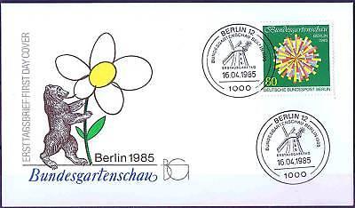 Berlin 1985: Gartenschau! FDC der Nr. 734 mit sauberen Sonderstempeln! 1A! 156