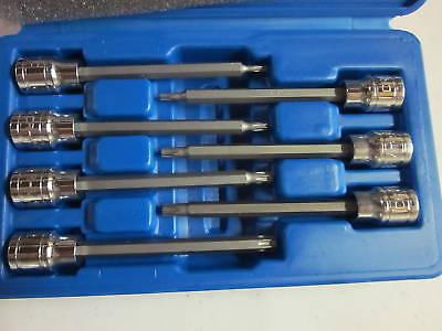Neiko Tools 7-pc 3/8 Drive Extra Long Torx Socket Bit Set T10 To T40 Cr-v