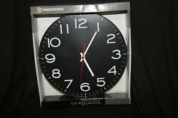 Artistic Products Timekeeper Black 300BS 11.5in Round Wall Clock Rimless