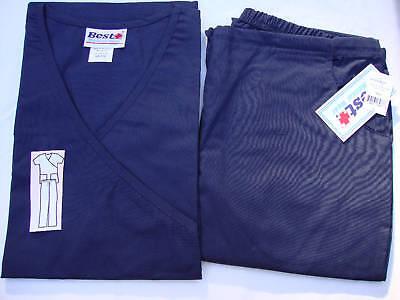 NWT-Nurse-Medical-Uniform-Scrub-Mock-Flare-Set-55-cotton-45-polyester-XS-3X-PLUS