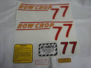 Oliver-77-Row-Crop-Tractor-Decal-Set-Red-Numbers-NEW-FREE-SHIPPING