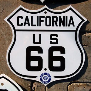 California-US-route-66-highway-road-sign-porcelain
