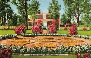 Image Is Loading Postcard Nashville Tennessee The Hermitage Garden  Andrew Jackson