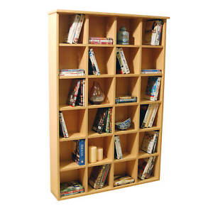 Pigeon Hole DVD CD storage shelf unit - BEECH - 2445OC