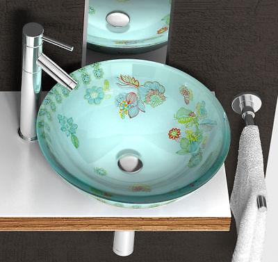 81038 Waschbecken Glas Waschschale NEU