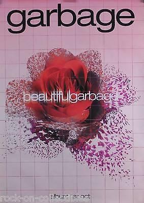 GARBAGE 2001 BEAUTIFUL GARBAGE UK PROMO POSTER