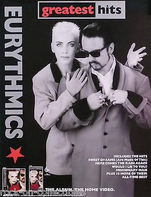 EURYTHMICS 1991 GREATEST HITS PROMO POSTER