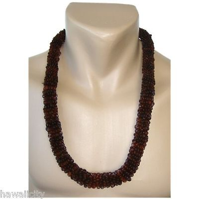 Hawaiian Koa Seed Handmade Lei Necklace from Hawaii