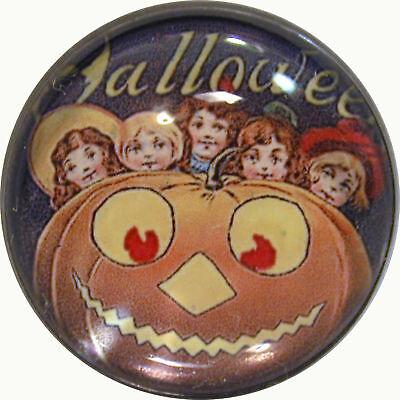 1-Halloween-Crystal-Dome-Button-5-Kids-Pumpkin