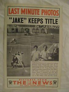 0783 Helen Jake Jacobs tennis 1937 News Photo poster Sarah Palfrey Walter M Hall