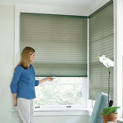 Cordless pleated window shade ebay for 18 inch window blinds