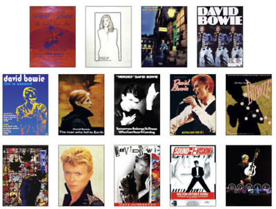 David Bowie Concert Posters Trading Card Set