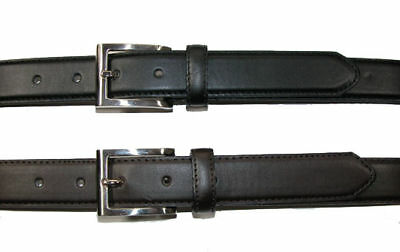 New-Mens-Casual-Dress-Leather-Belt-Black-or-Brown-E2