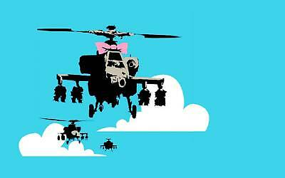 QUALITY BANKSY ART PHOTO PRINT (HAPPY CHOPPERS)