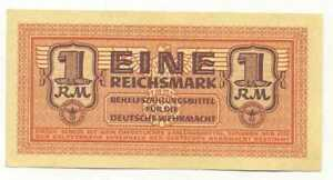 Germany-Wehrmacht-Auxiliary-Payment-Certificate-1-Reichsmark-1942-UNC-RARE