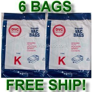 6-Bags-for-HOOVER-Spirit-Canister-Vacuum-TYPE-K