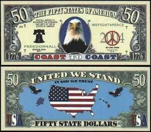 Image Is Loading Lot Of 100 Bills United We Stand 50