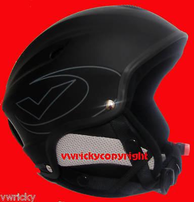 Black Medium Ski Snowboarding Crash Helmet 5 Seasons 55-56 Cm