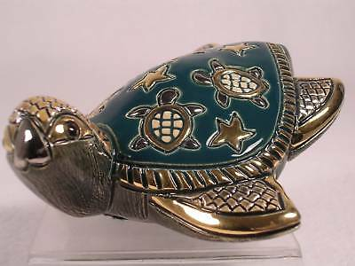 DeRosa Rinconada Silver Anniversary 'Sea Turtle' Figurine  #758  RET. New In Box