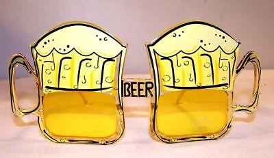 2 Pair Beer Mug Party Glasses Parties Supplies Costumes
