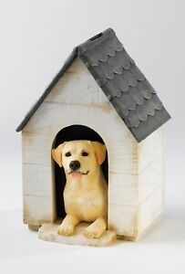 Border Fine Arts Studio Yellow Labrador in Kennel Money Bank Box NEW 13342