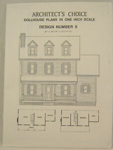 Dollhouse plans design 5 architect 39 s choice 1 12 scale for Architecture t scale