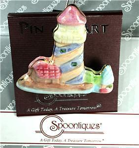 Dozen Spoontiques Pin Art Ceramic Lighthouse