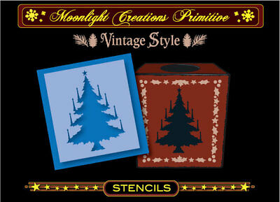 Primitive Stencilchristmas Treevictorian Vintage Classic Style Of The 1800s