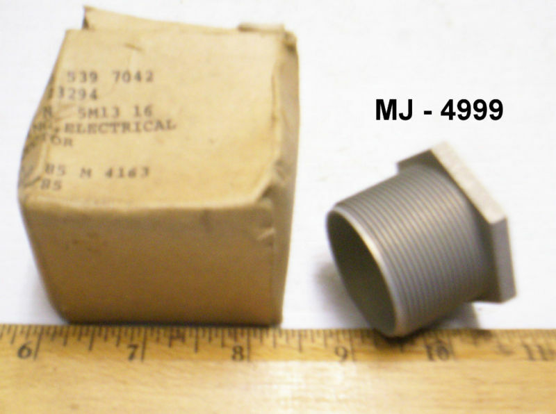 The Boeing Company - Aluminum Electrical Bushing - P/N: 5M13 16 (NOS)