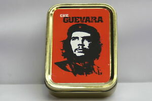Tobacco-Cigarette-Storage-2oz-Tin-Che-Guevara-Cuba-Revolution-Retro-Classic