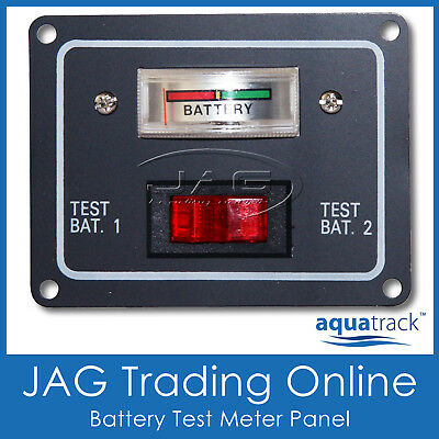 12V BATTERY CONDITION DUAL TEST METER/SWITCH PANEL GAUGE-Boat/Marine/Caravan/4x4
